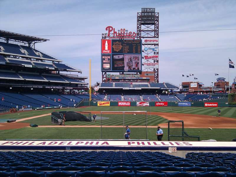 Seating view for Citizens Bank Park Section 117 Row 16 Seat 5