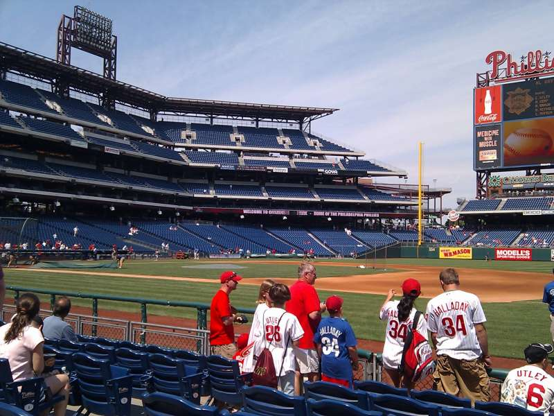 Seating view for Citizens Bank Park Section 114 Row 6 Seat 6