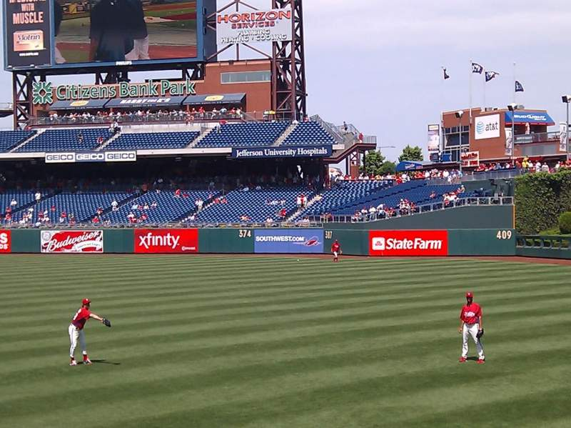 Seating view for Citizens Bank Park Section 107 Row 13 Seat 4