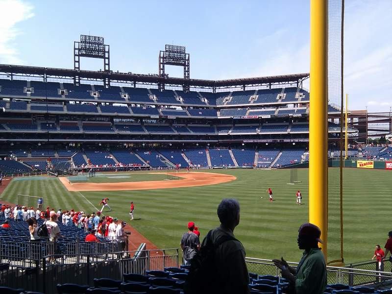 Seating view for Citizens Bank Park Section 106 Row 14 Seat 5