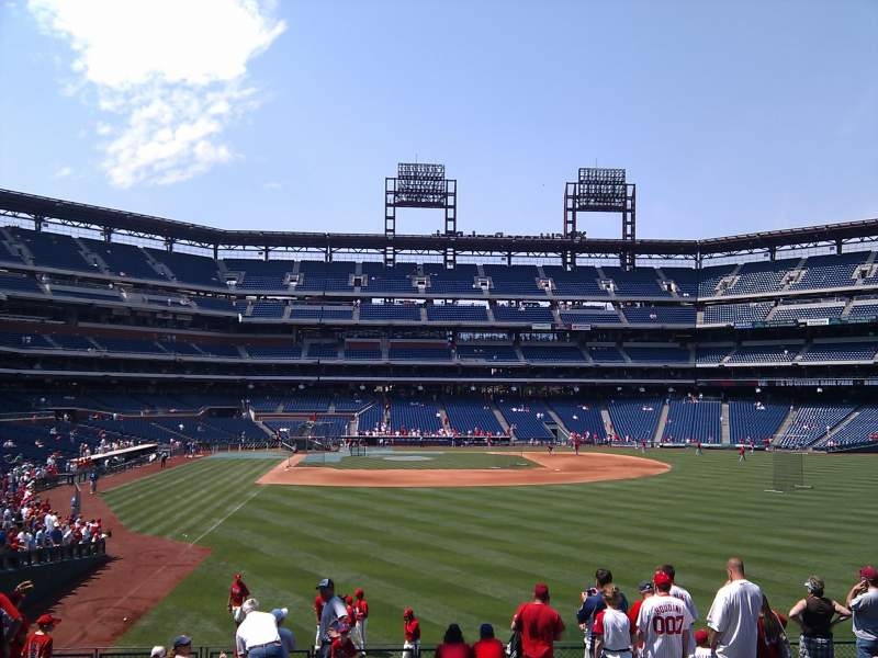 Seating view for Citizens Bank Park Section 105 Row 10 Seat 9