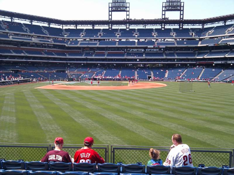 Seating view for Citizens Bank Park Section 104 Row 7 Seat 12