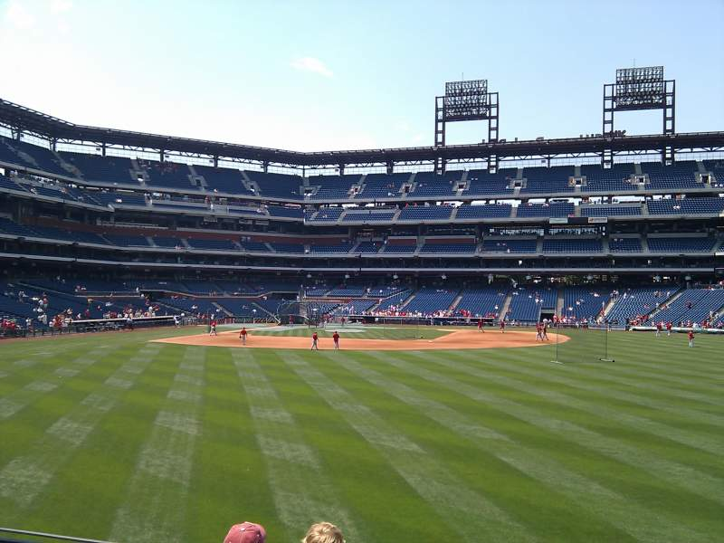 Seating view for Citizens Bank Park Section 103 Row 4 Seat 10