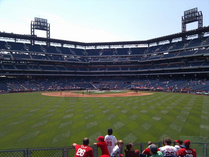 Seating view for Citizens Bank Park Section 148 Row 15 Seat 3