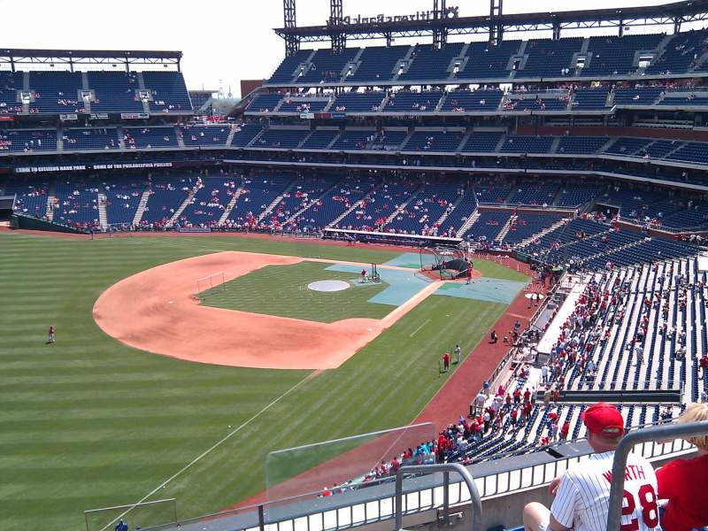 Seating view for Citizens Bank Park Section 332 Row 5 Seat 1