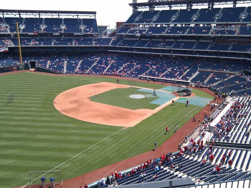 Seating view for Citizens Bank Park Section 430 Row 5 Seat 12