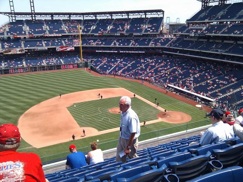 Seating view for Citizens Bank Park Section 327 Row 8 Seat 24