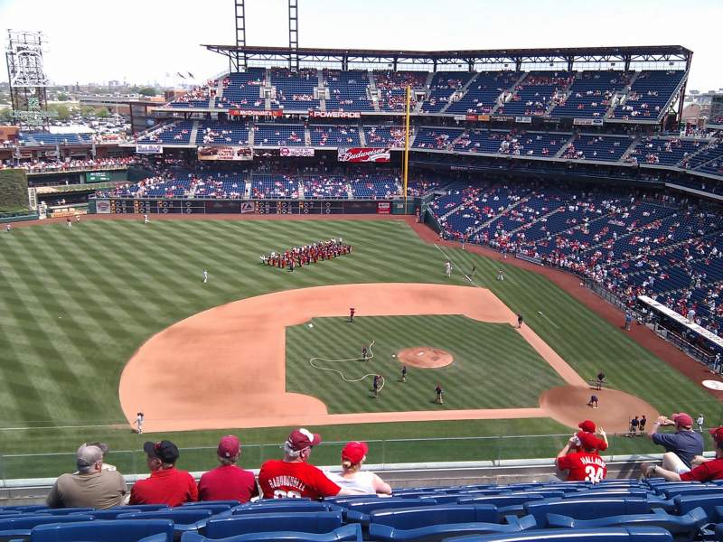Seating view for Citizens Bank Park Section 326 Row 9 Seat 20