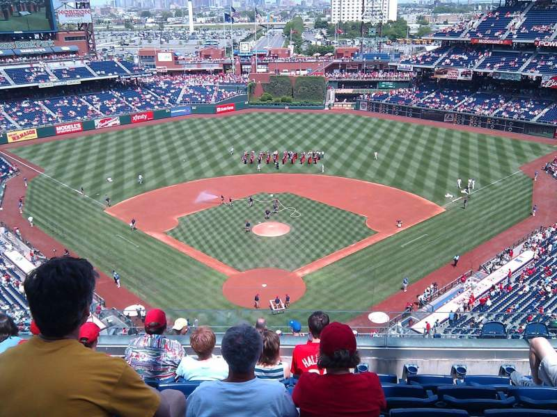 Seating view for Citizens Bank Park Section 420 Row 6 Seat 17