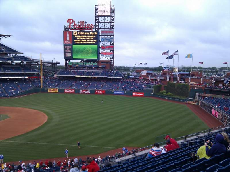 Seating view for Citizens Bank Park Section 210 Row 10 Seat 18