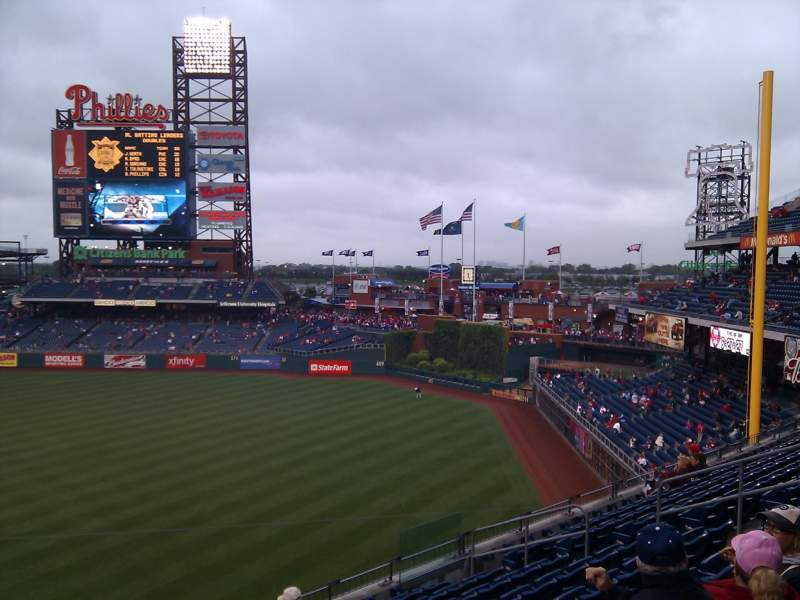 Seating view for Citizens Bank Park Section 209 Row 9 Seat 14