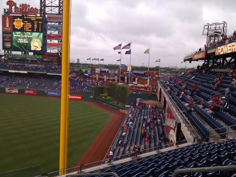 Seating view for Citizens Bank Park Section 207 Row 9 Seat 3