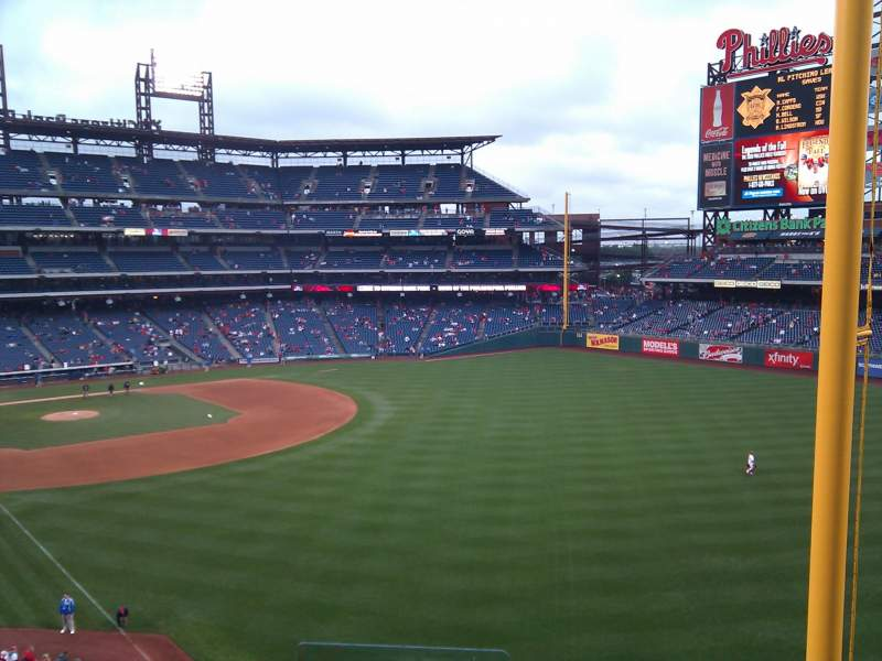Seating view for Citizens Bank Park Section 206 Row 5 Seat 22