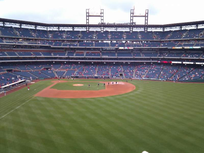 Seating view for Citizens Bank Park Section 203 Row 6 Seat 16