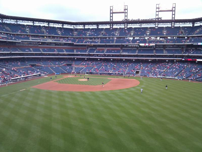 Seating view for Citizens Bank Park Section 201 Row 1 Seat 1