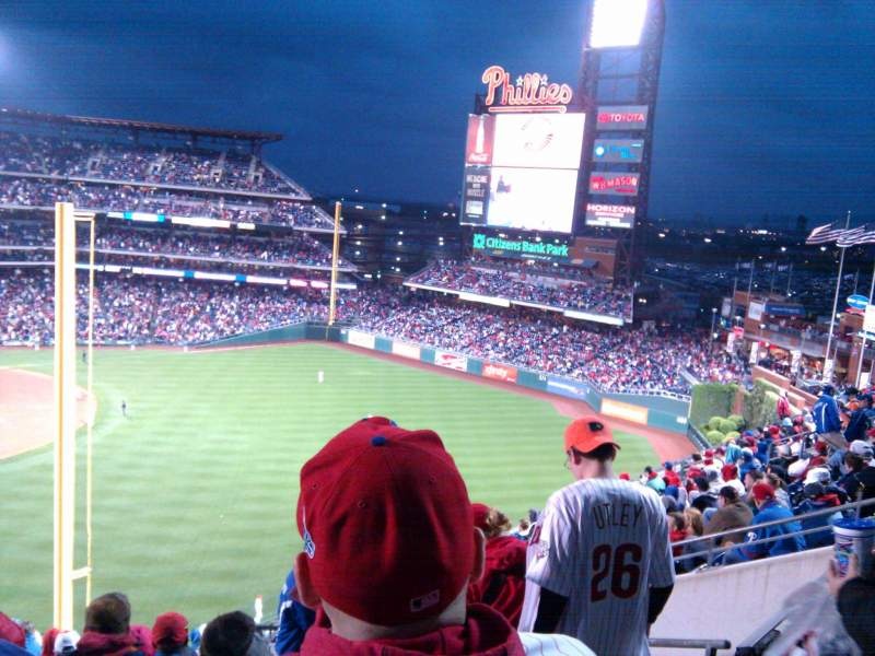 Seating view for Citizens Bank Park Section 306 Row 14 Seat 6