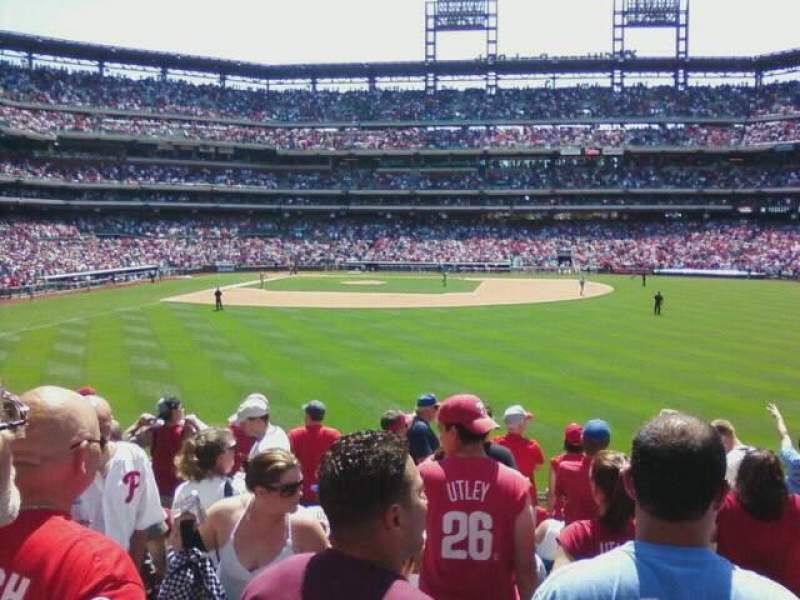 Seating view for Citizens Bank Park Section 104 Row 11 Seat 3