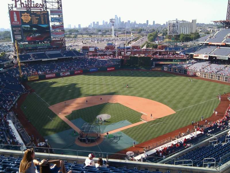 Seating view for Citizens Bank Park Section 419 Row 11 Seat 13