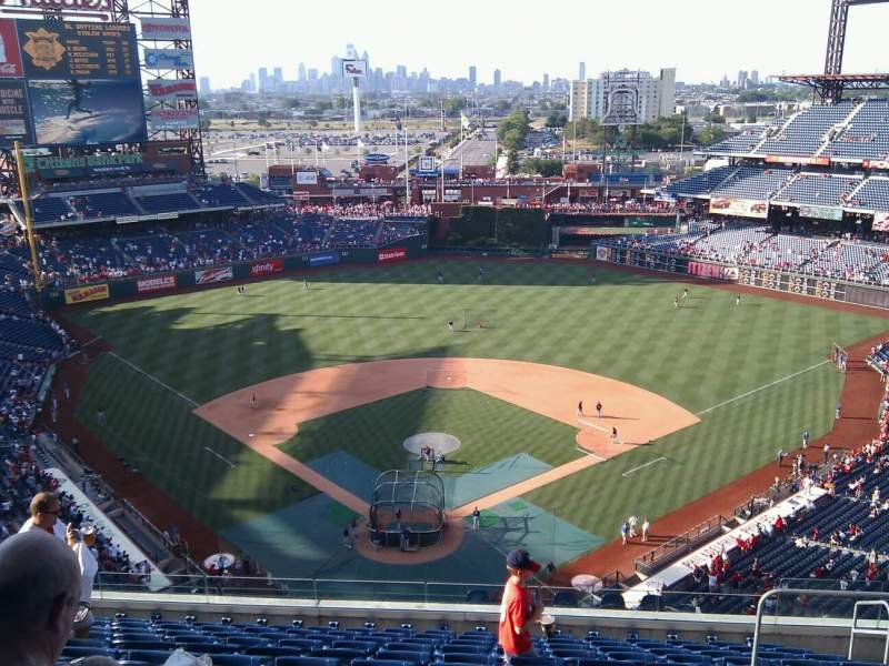 Seating view for Citizens Bank Park Section 420 Row 12 Seat 7