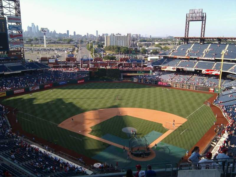 Seating view for Citizens Bank Park Section 422 Row 14 Seat 8