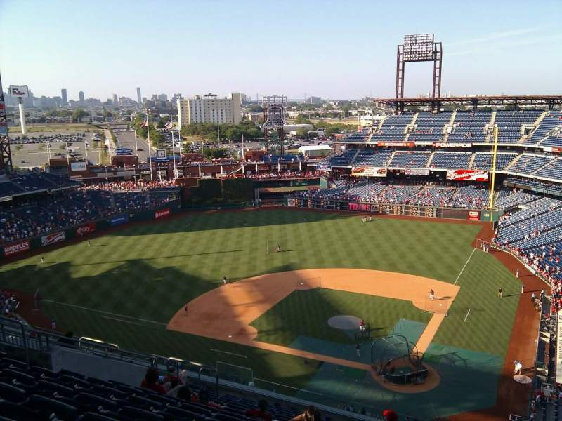 Seating view for Citizens Bank Park Section 423 Row 15 Seat 15