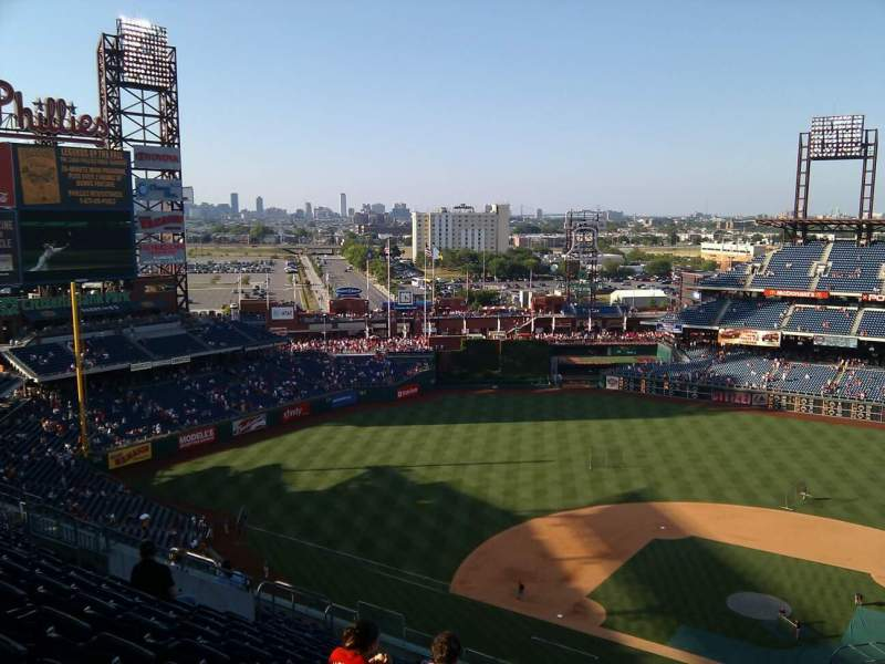 Seating view for Citizens Bank Park Section 424 Row 16 Seat 4