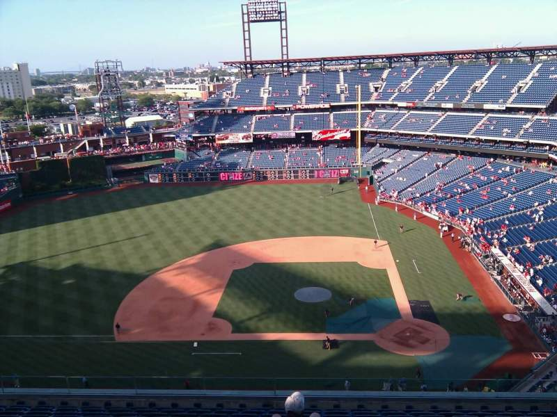 Seating view for Citizens Bank Park Section 425 Row 13 Seat 10
