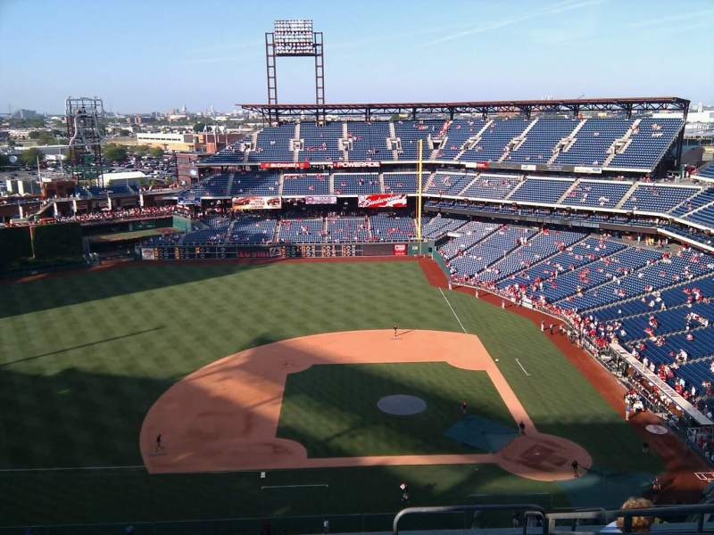 Seating view for Citizens Bank Park Section 426 Row 11 Seat 3