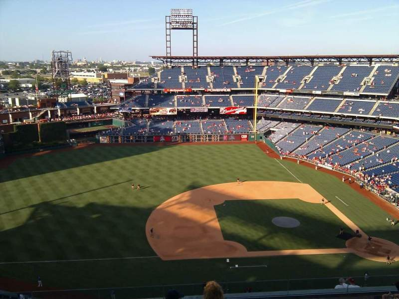 Seating view for Citizens Bank Park Section 427 Row 11 Seat 12