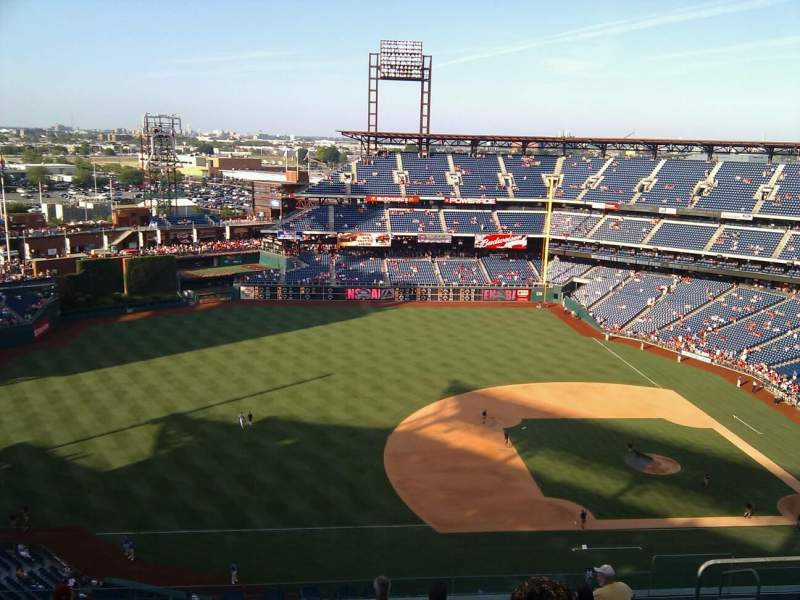 Seating view for Citizens Bank Park Section 428 Row 12 Seat 10