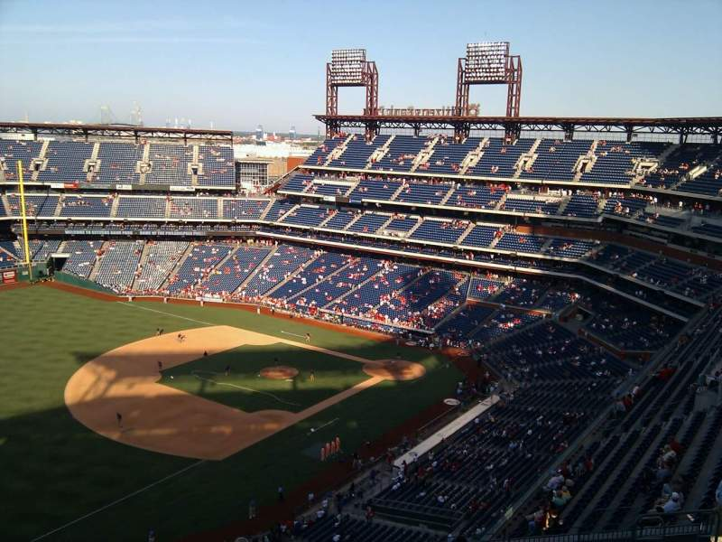Seating view for Citizens Bank Park Section 431 Row 15 Seat 14