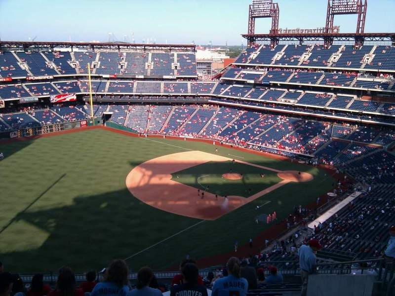 Seating view for Citizens Bank Park Section 432 Row 15 Seat 7