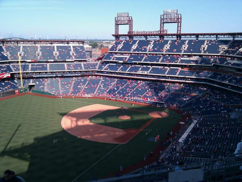 Seating view for Citizens Bank Park Section 433 Row 16 Seat 10