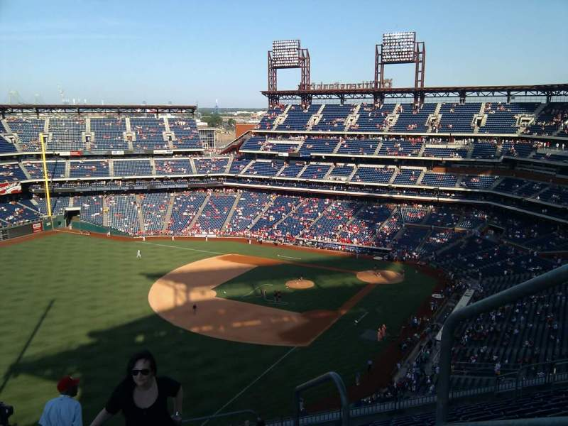 Seating view for Citizens Bank Park Section 434 Row 13 Seat 1