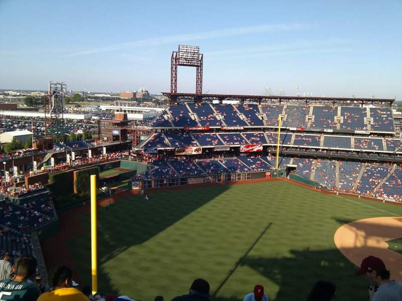 Seating view for Citizens Bank Park Section 434 Row 13 Seat 2
