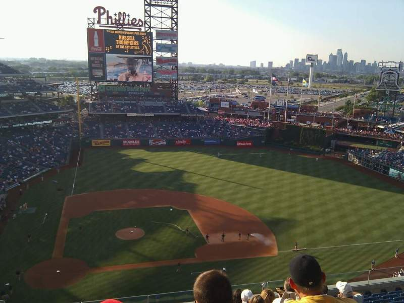 Seating view for Citizens Bank Park Section 416 Row 13 Seat 20