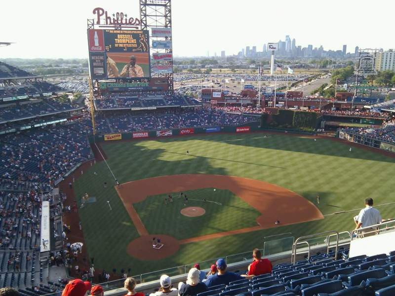 Seating view for Citizens Bank Park Section 418 Row 13 Seat 14