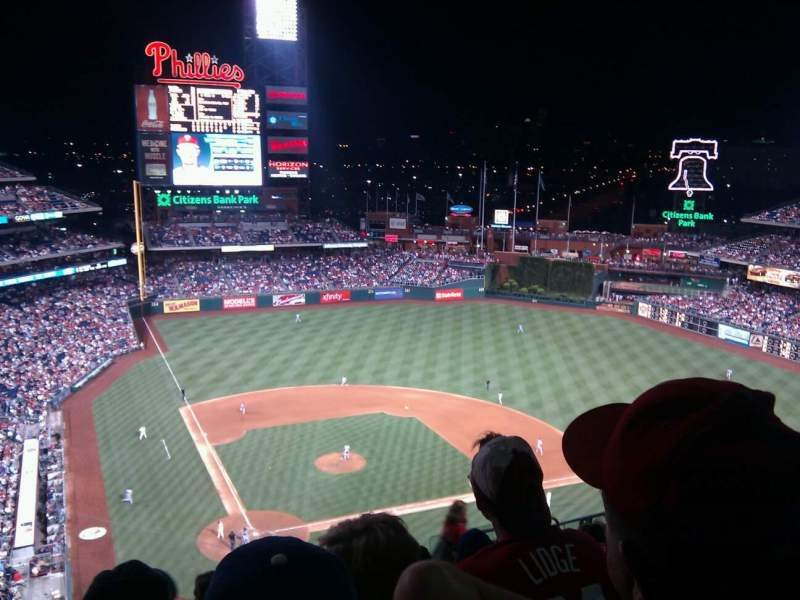 Seating view for Citizens Bank Park Section 418 Row 13 Seat 12