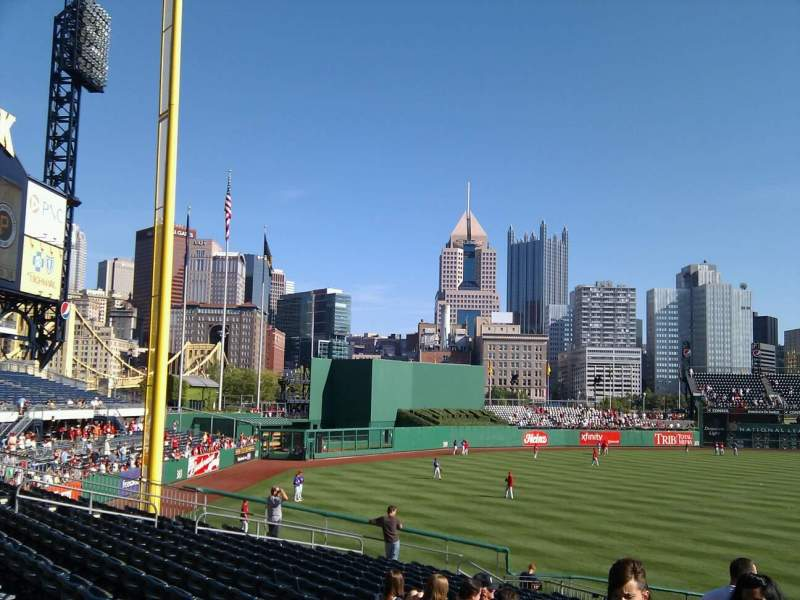Seating view for PNC Park Section 130 Row q Seat 23