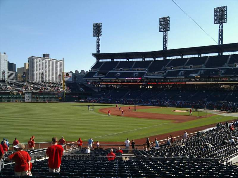 Seating view for PNC Park Section 130 Row q Seat 15