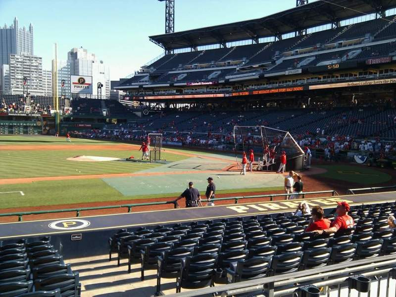 Seating view for PNC Park Section 123 Row c Seat 10