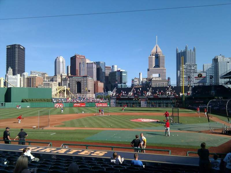 Seating view for PNC Park Section 120 Row c Seat 16