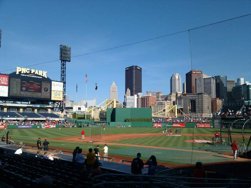 Seating view for PNC Park Section 119 Row b Seat 12