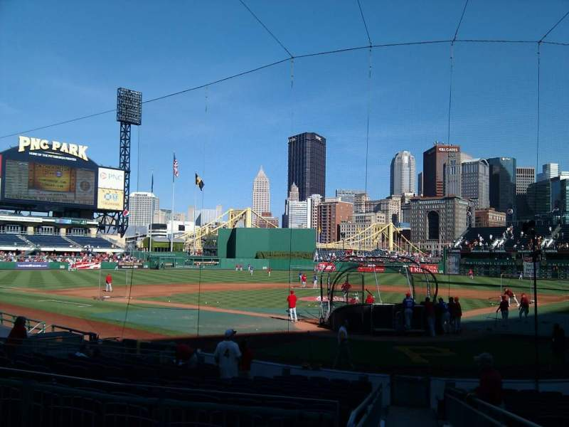 Seating view for PNC Park Section 117 Row c Seat 12