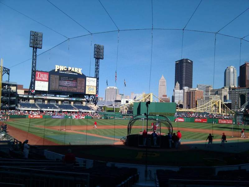 Seating view for PNC Park Section 117 Row d Seat 2