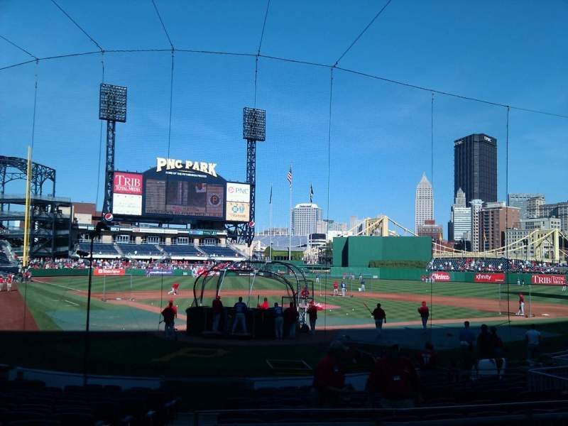 Seating view for PNC Park Section 116 Row c Seat 8
