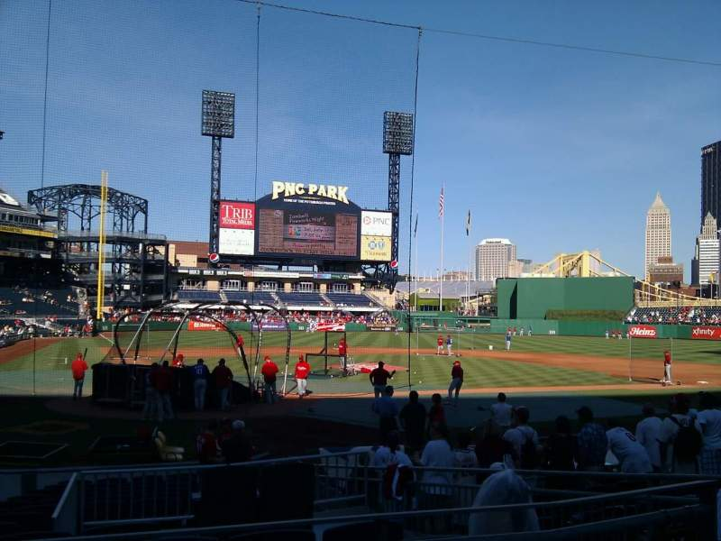 Seating view for PNC Park Section 114 Row a Seat 7