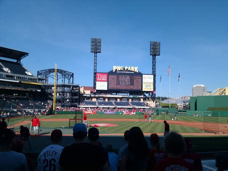 Seating view for PNC Park Section 12 Row k Seat 12