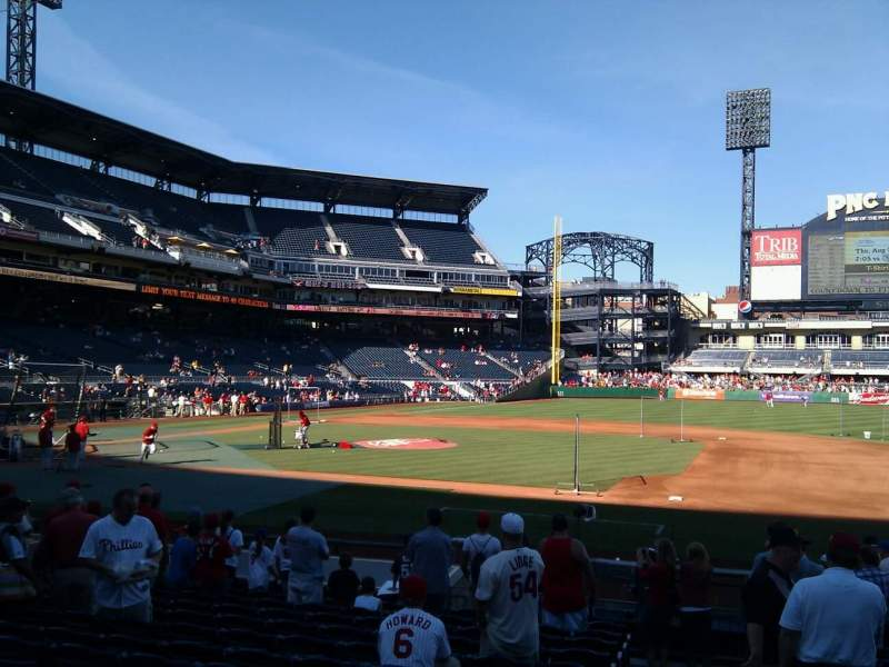 Seating view for PNC Park Section 109 Row d Seat 13