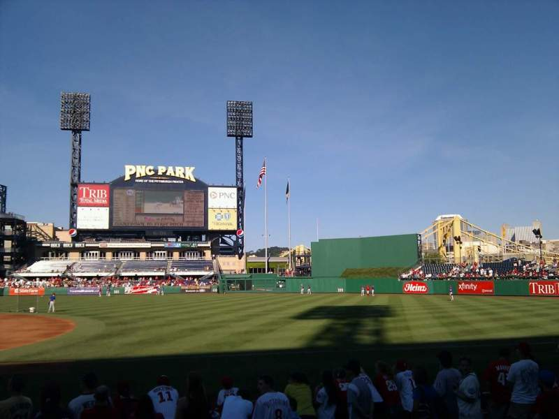 Seating view for PNC Park Section 7 Row k Seat 10